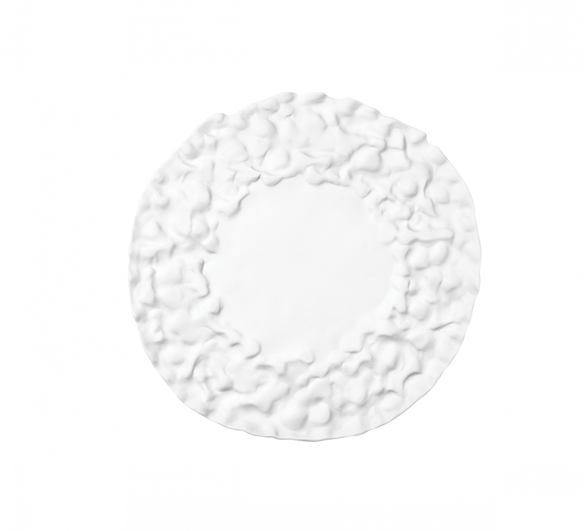 Materia Flat Rounded Plate 23cm Without Glaze – MAT.15