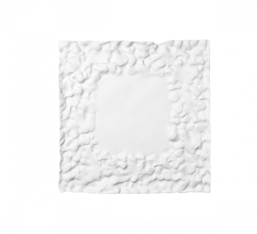 Materia Square Tray 23x23cm Without Glaze – MAT.08