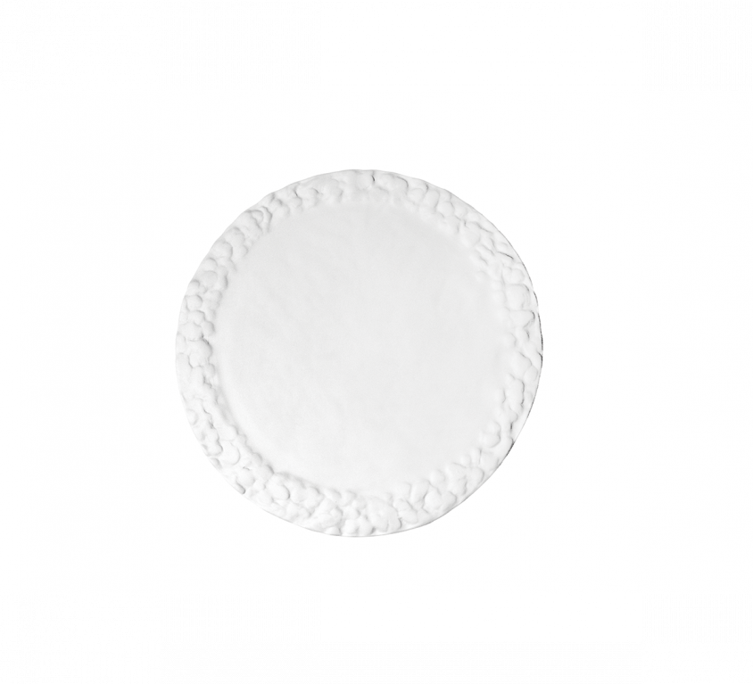 Materia Flat Rounded Plate 35cm Without Glaze – MAT.25